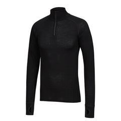 TIGER - Mens Merino Wool Big Cat Long Sleeve Zip Top XS & S