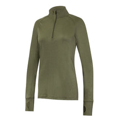 IONA - Women's Merino Wool Baselayer Long Sleeve Zip Top