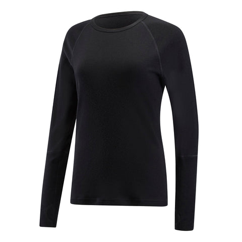 Black ARTEMIS - SALE - Women's Long Sleeve Crew Neck. Black - S & M