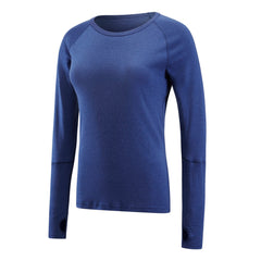ARTEMIS - SALE - Women's Merino Wool Long Sleeve Crew Neck. Blue - XS & M