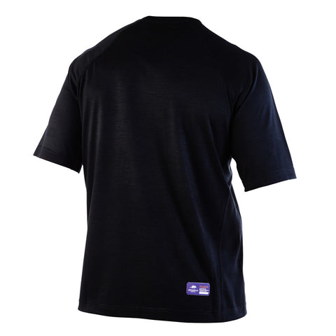 Black COBRA - Mens Merino Wool Baselayer Elite Short Sleeve Crew Neck