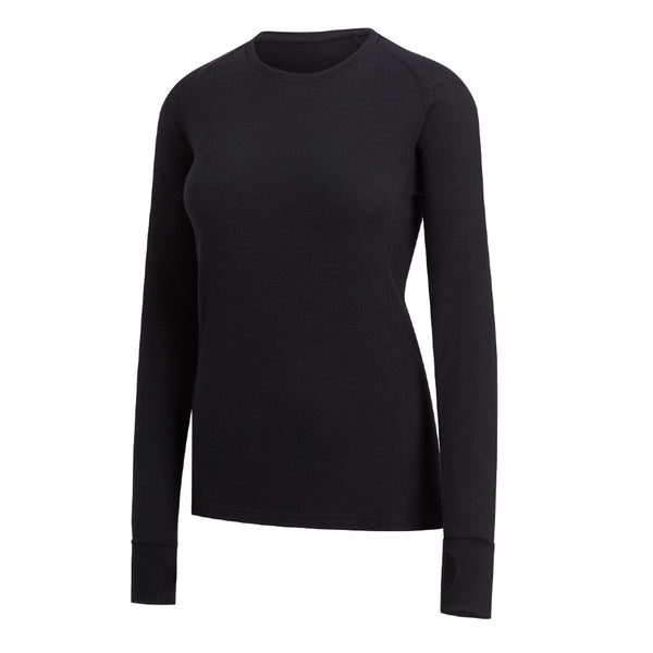 FLORA - Womens Merino Wool Baselayer Long Sleeve, Crew Neck