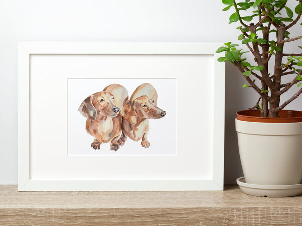 Custom Pet Portrait - 2 Pets (Unframed)