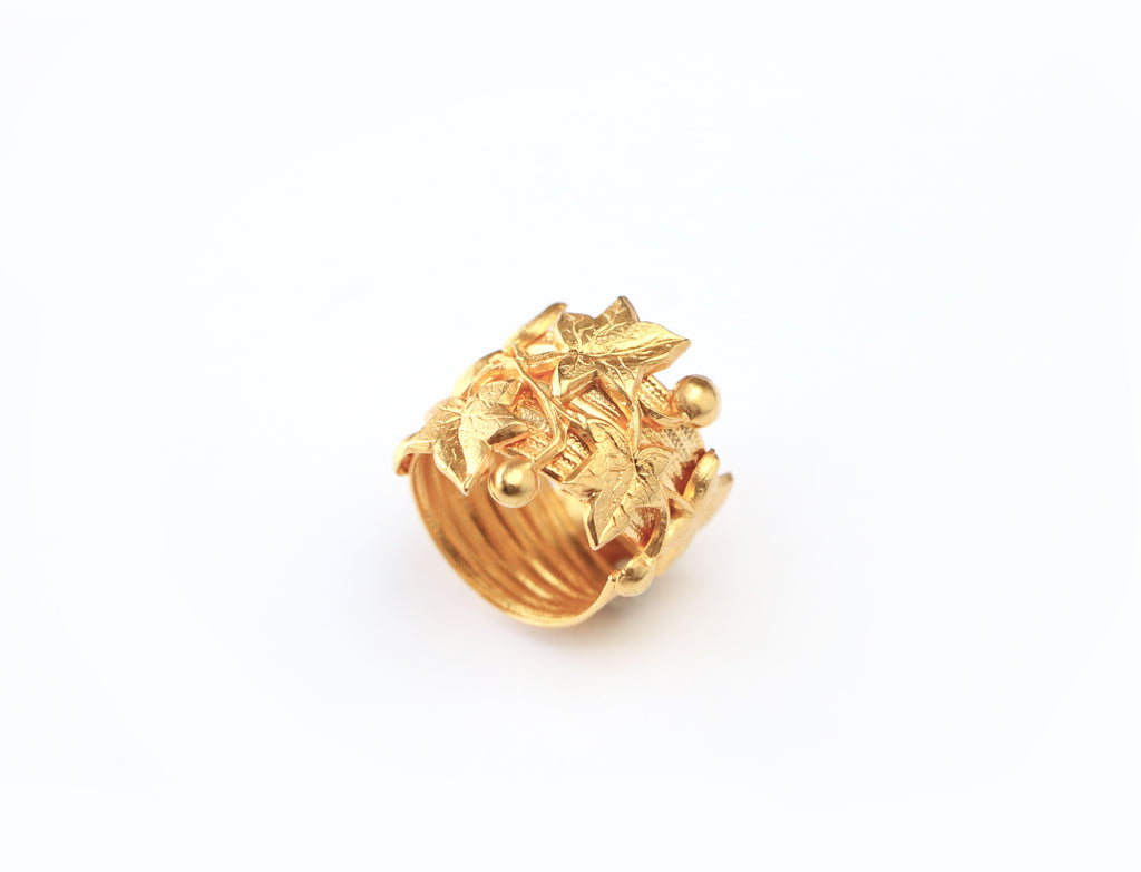 Ivy ring, ivy league, bague Lierre, Armelle Aulestia bijoux Jewellery, bague, ring
