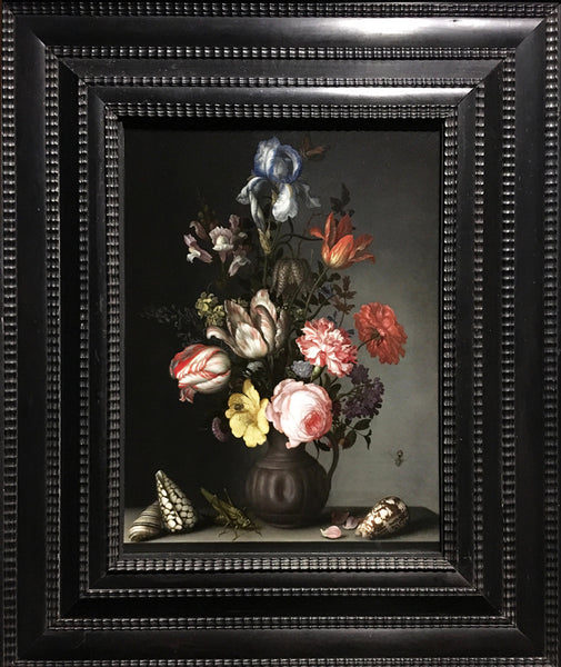 Balthasar van der Ast (1593 - 1657)  Flowers in a Vase with Shells and Insects
