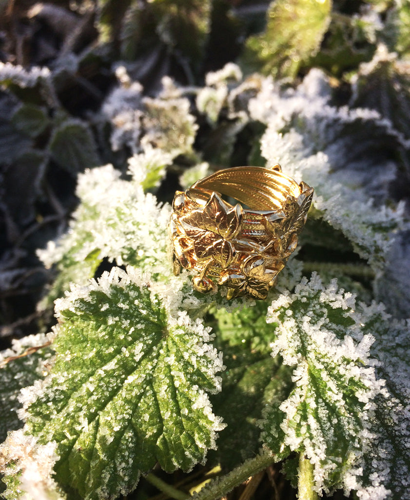Ivy Ring, bague Lierre, Bijoux Armelle Aulestia Jewellery, ring, fashion Paris, ring,