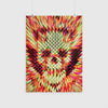 Geo Skull Poster, Geometric Skull Art Print, Sugar Skull Pattern Home Decor