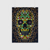Abstract Skull Poster, Colorful Skull Art Print, Geometric Skull Wall Art