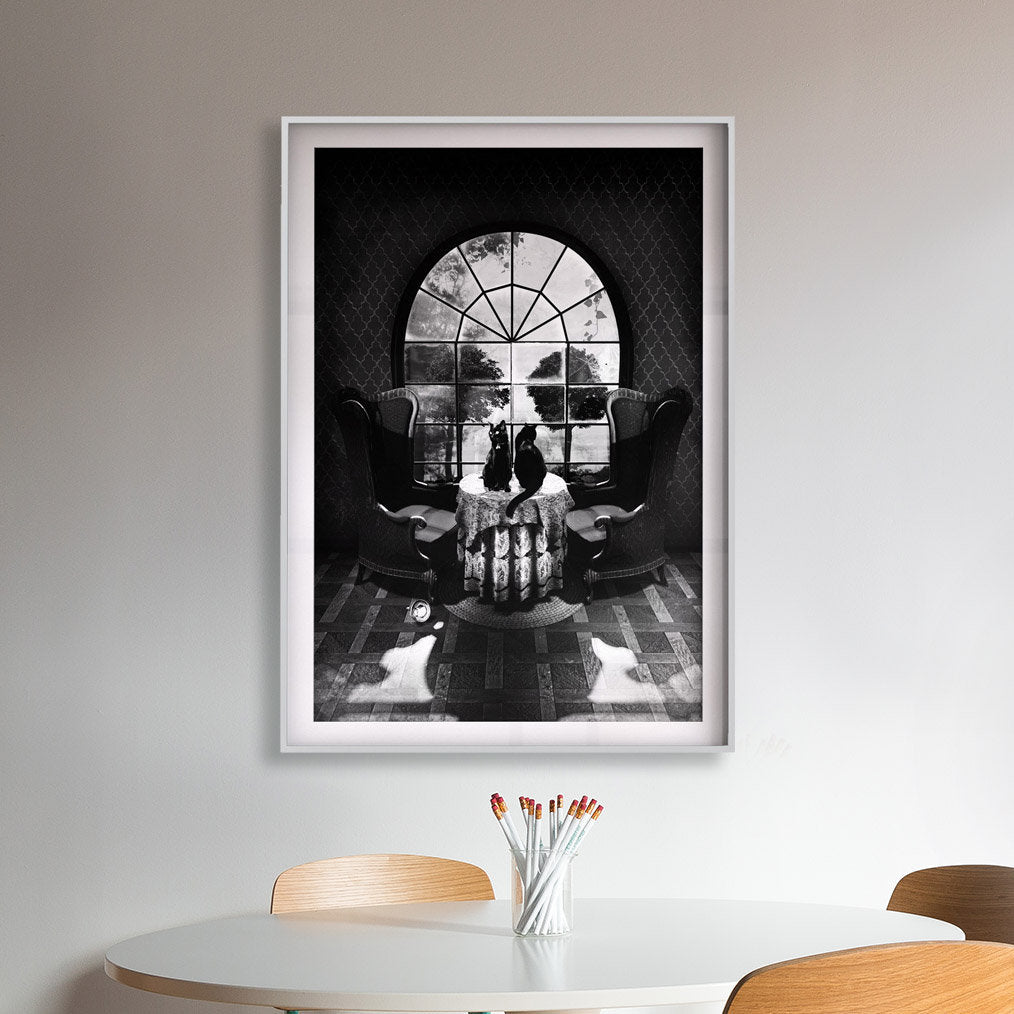 Room Skull Poster, Sugar Skull Art Print, Black And White Skull Wall Art