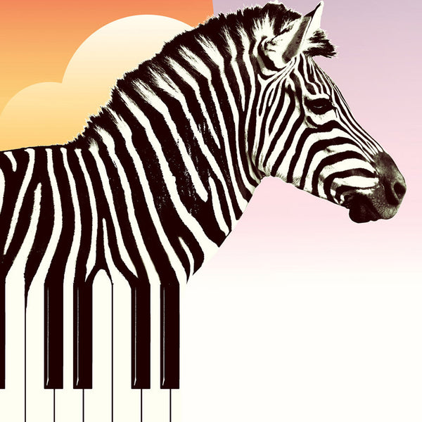 Zebra Art Print, Funny Animal Wall Art, Music Zebra Poster