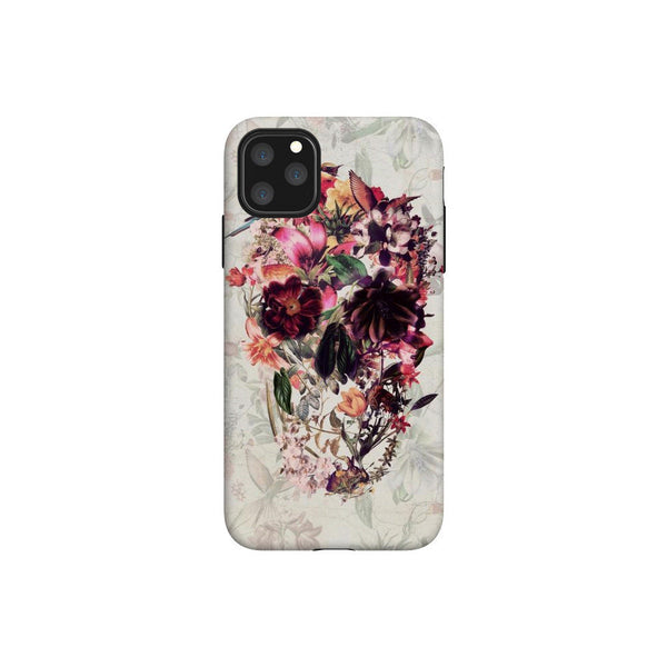New Skull iPhone12 Case, Floral Skull Phone Case, Flower Skull Samsung Case, Sugar Skull Phone Case Gift, Gothic Case For iPhone And Samsung