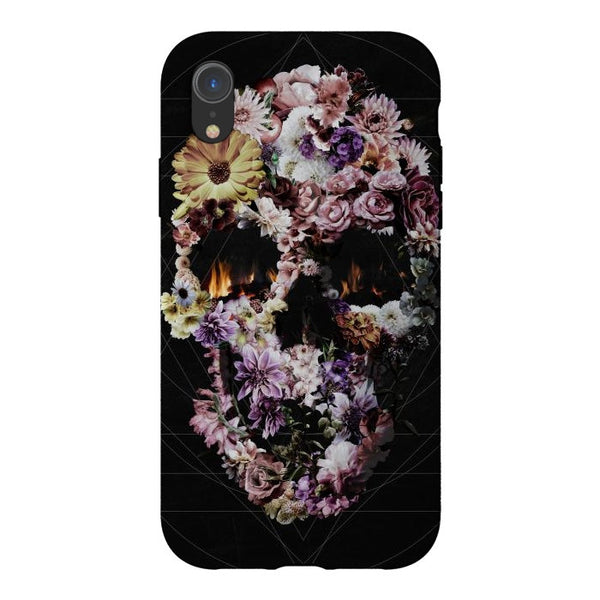 Flower Skull iPhone 12 Case, Boho Skull Phone Case, Floral Skull Samsung Case, Gothic Sugar Skull Phone Case Gift, Case For iPhone & Samsung