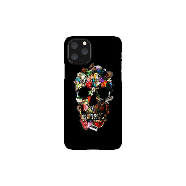 Skull iPhone 12 Case, Floral Skull iPhone Case, Flower Skull Samsung Case, Sugar Skull Phone Case Gift, Skull Case For iPhone And Samsung
