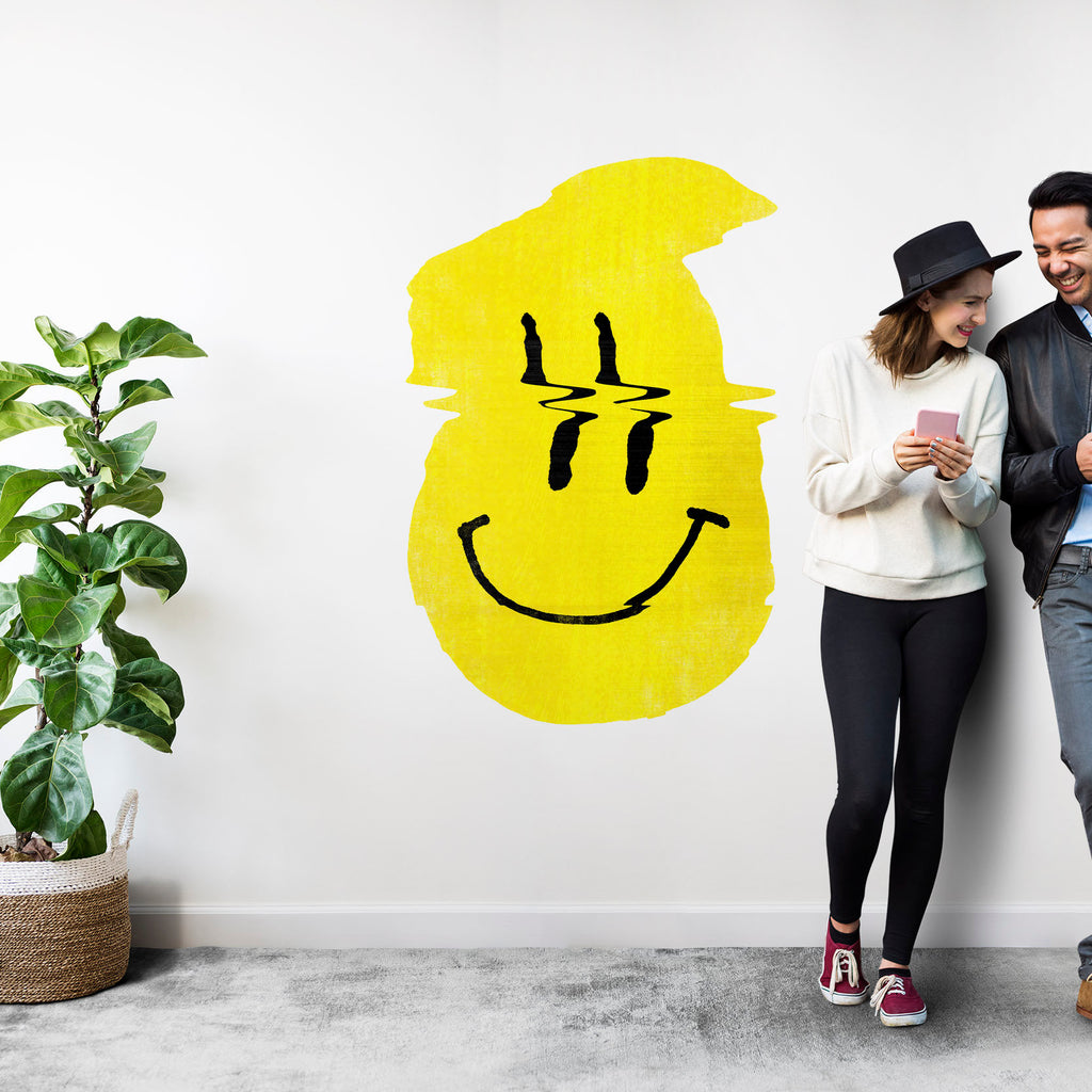 Smiley Wall Sticker, Funny Wall Decal, Vinyl Pop Art Home Decor