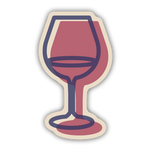 Load image into Gallery viewer, Stickers Northwest Glass of Wine Large Printed Sticker