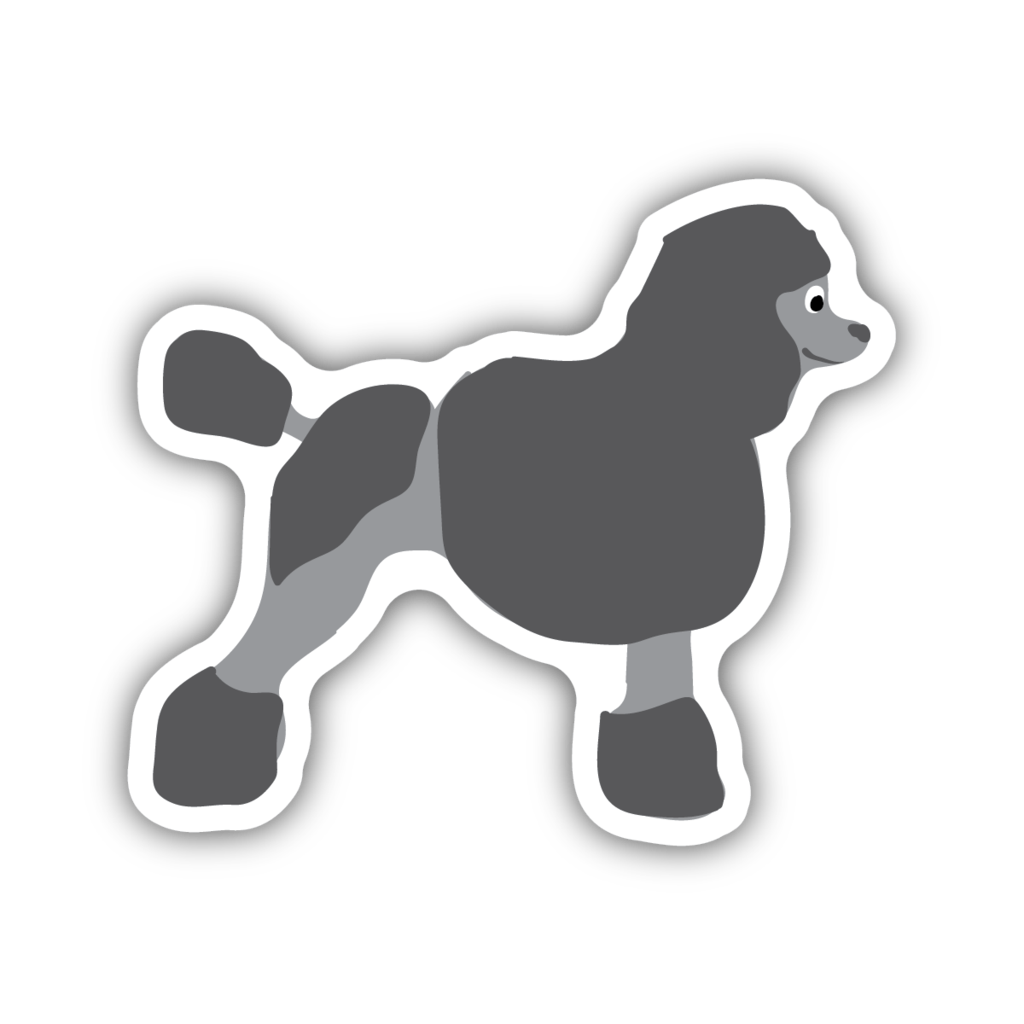 Stickers Northwest Poodle Large Printed Sticker