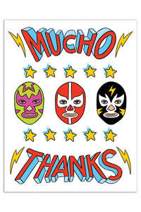 The Found Mucho Thanks Wrestling Heads Card