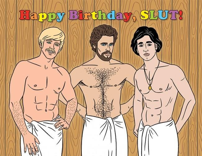 The Found Greeting Card Happy Birthday Slut