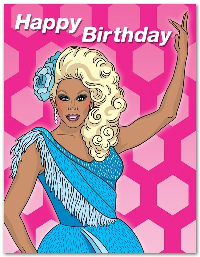 The Found Greeting Card RuPaul HBD