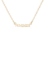 Load image into Gallery viewer, Kris Nations Feminist Charm Necklace in 18K Gold Vermeil