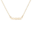 Kris Nations Feminist Charm Necklace in 18K Gold Vermeil
