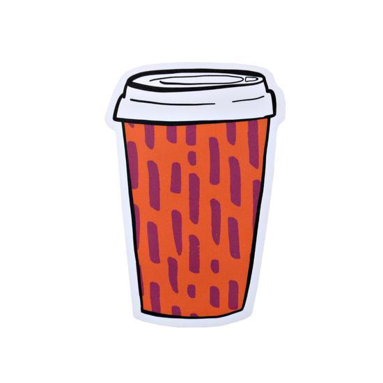 Pipsticks Vinyl Sticker Coffee Cup