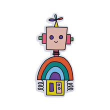 Load image into Gallery viewer, Pipsticks Vinyl Sticker Rainbow Robot