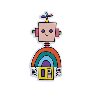 Pipsticks Vinyl Sticker Rainbow Robot