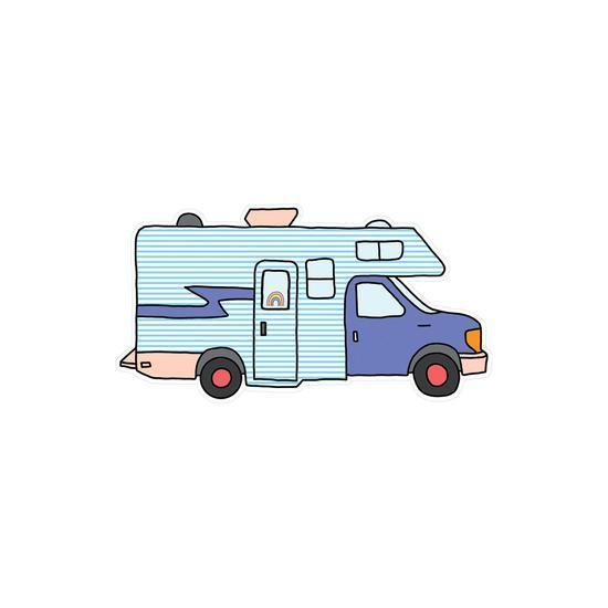 Pipsticks Vinyl Sticker Campervan