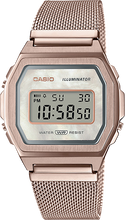 Load image into Gallery viewer, Casio Vintage Rose Gold Mesh Band Pearl Face Watch