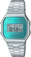 Casio Vintage Silver Band Turquoise Face