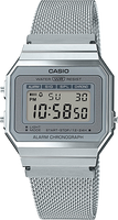 Casio Vintage Silver Mesh Band Silver Face