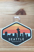 Acme Local Seattle Skyline Sunset Sticker