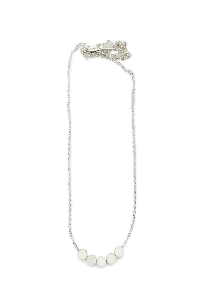 Balee 5 Dot Necklace in Silver