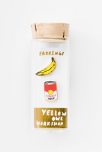 Load image into Gallery viewer, Yellow Owl Workshop Stud Earrings Pop Art Banana And Soup