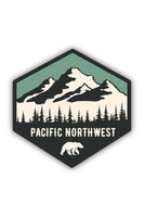Stickers Northwest Bear Hexagon Large Printed Sticker