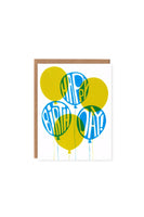 Orange Twist Birthday Balloons Blue Lime