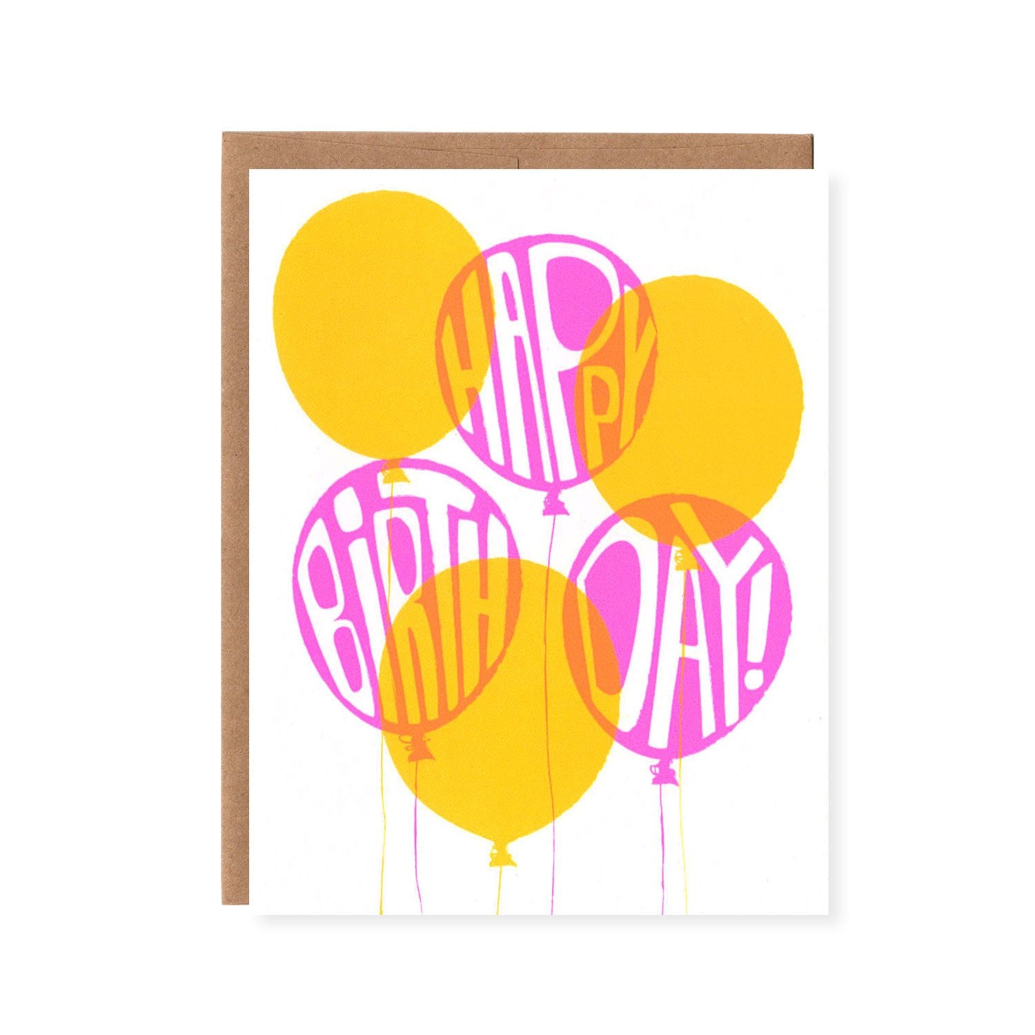 Orange Twist Birthday Balloons Pink and Yellow