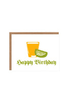 Orange Twist Birthday Shot Card