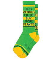 Gumball Poodle It's Always Ok To Buy More Plants Socks