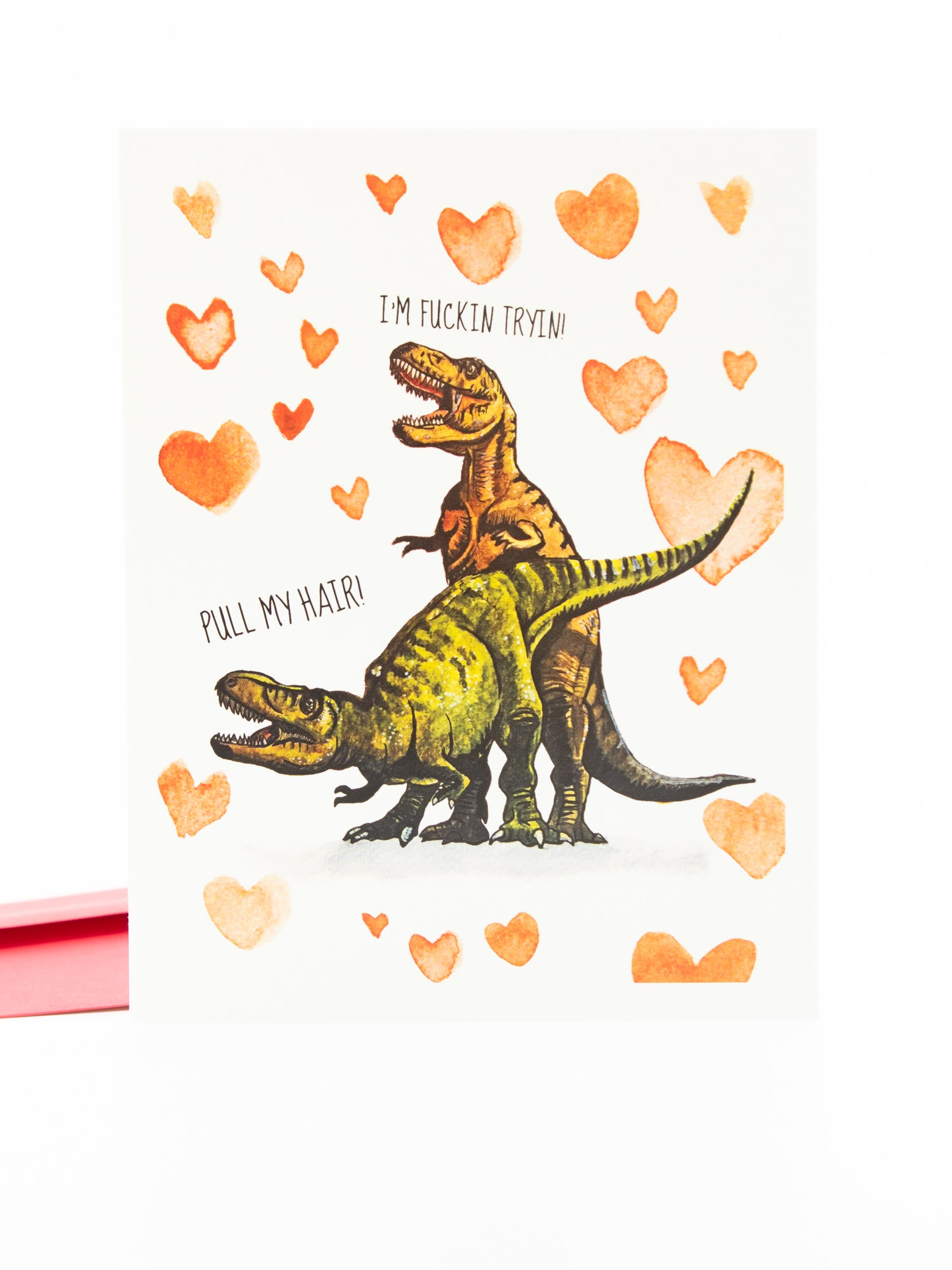 Yea Oh Greetings T-Rex Love Card