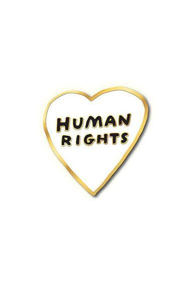 The Found Enamel Pin Human Rights Heart