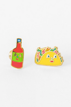 Load image into Gallery viewer, Yellow Owl Workshop Earrings Taco And Hot Sauce
