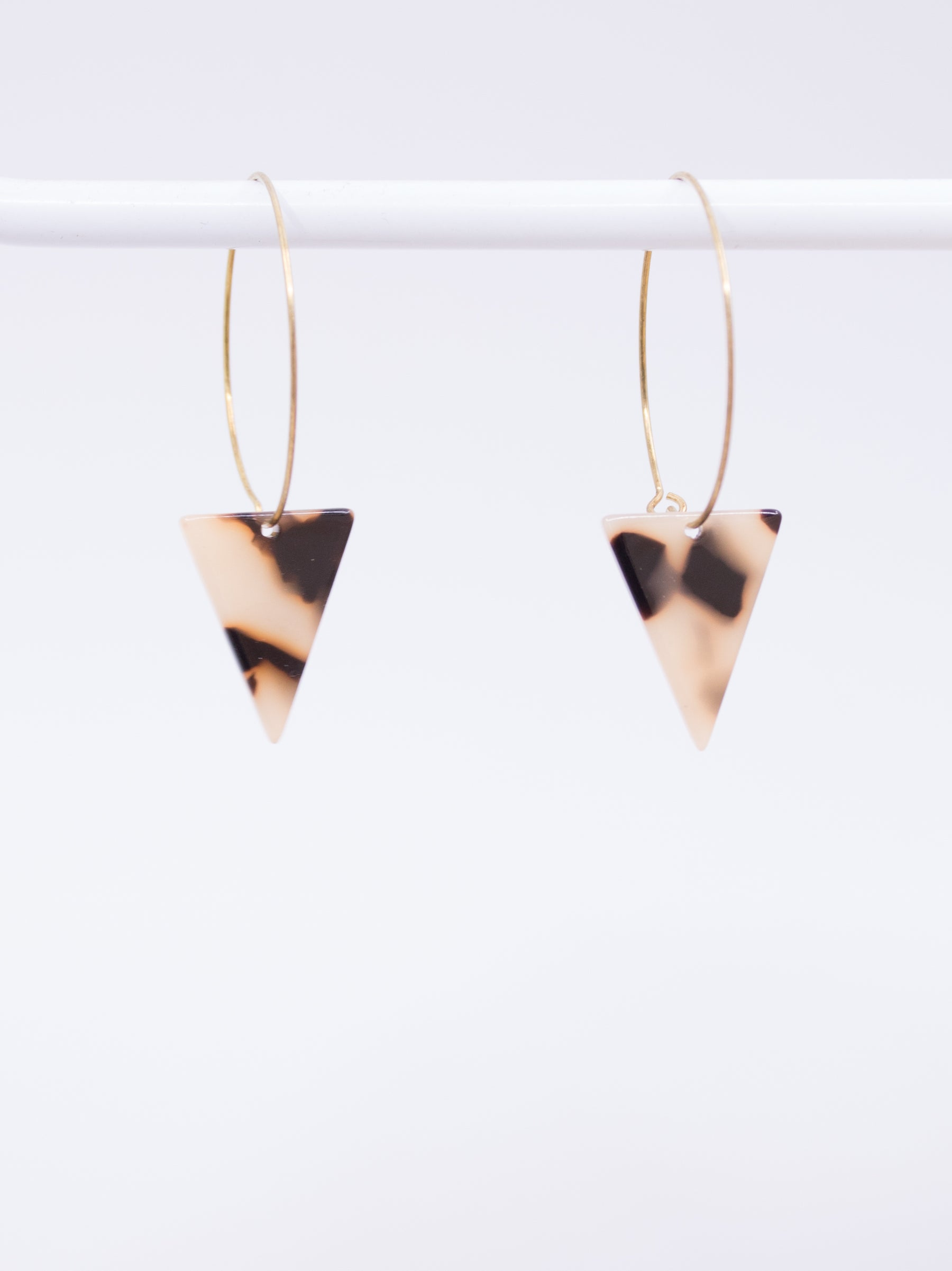 Stoll & Heart Marley Light Tortoise Triangle Earrings