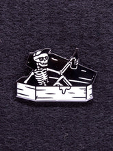 Load image into Gallery viewer, Strike Gently Co. Coffin Guy Pin