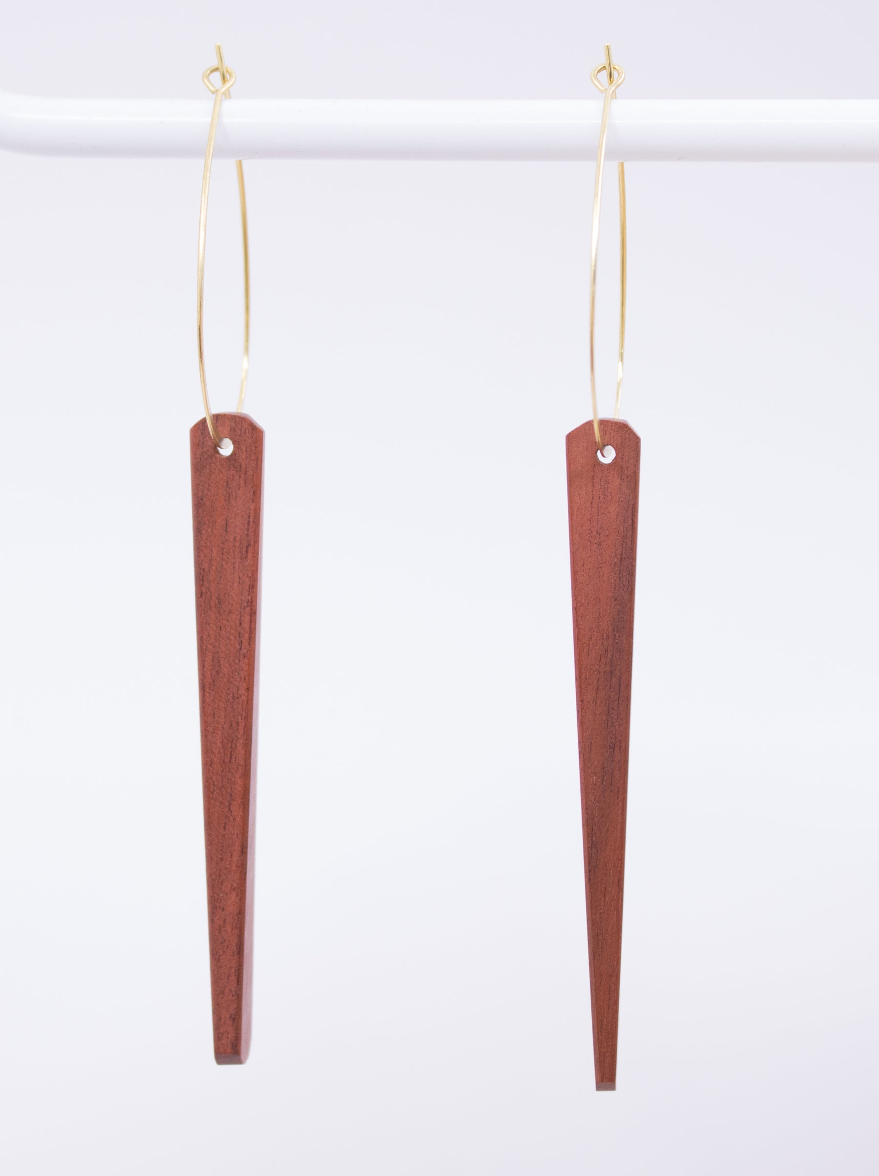 Stoll & Heart Midcentury Dark Wood Earrings