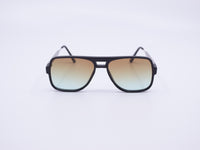 Spitfire Orbital Sunglasses Black Frame/Brown Green Gradient Lens
