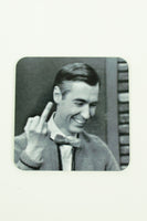 Jim Spinx Coaster Mr. Rogers Middle Finger