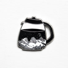Load image into Gallery viewer, Ramble On Supply Co. Coffee Pot Mountains Enamel Pin