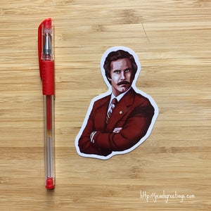Yea Oh Greetings Anchorman Sticker